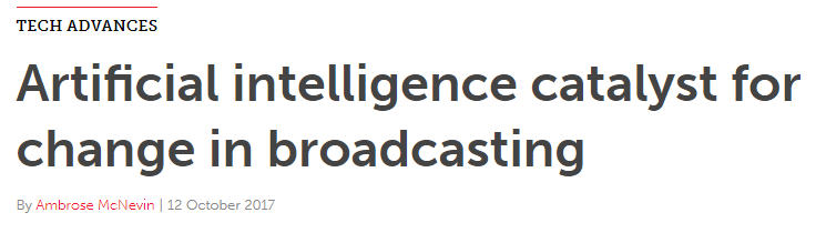 AI broadcasting change